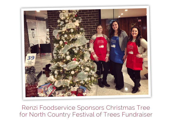 Renzi Foodservice Sponsors Christmas Tree for North Country Festival of Trees Fundraiser