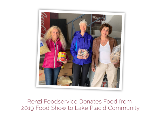 Renzi Foodservice Donates Food from 2019 Food Show to Lake Placid Community