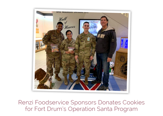 Renzi Foodservice Donates Cookies for Fort Drum's Operation Santa Program